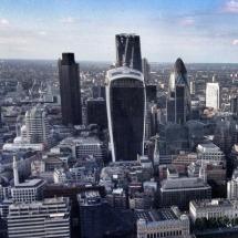 Views of East London's skyscrapers